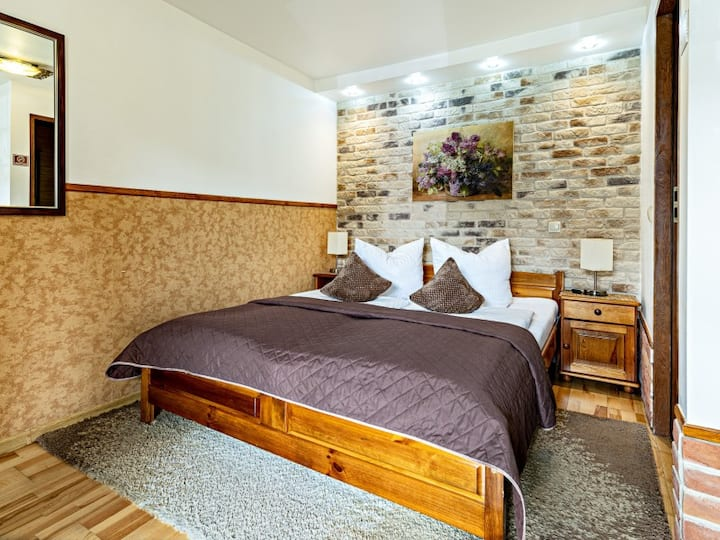 Economy double room with terrace - ground floor. Pensjonat Miejski