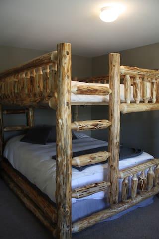 Bedroom #2  Queen bunkbeds
