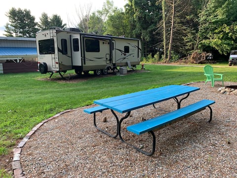 Rockwood Camper in a country setting.