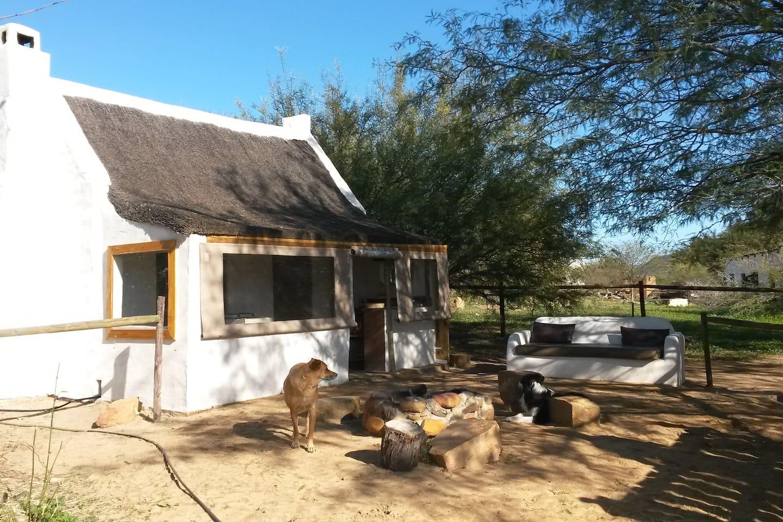 Cabin with outside sofa and braai area