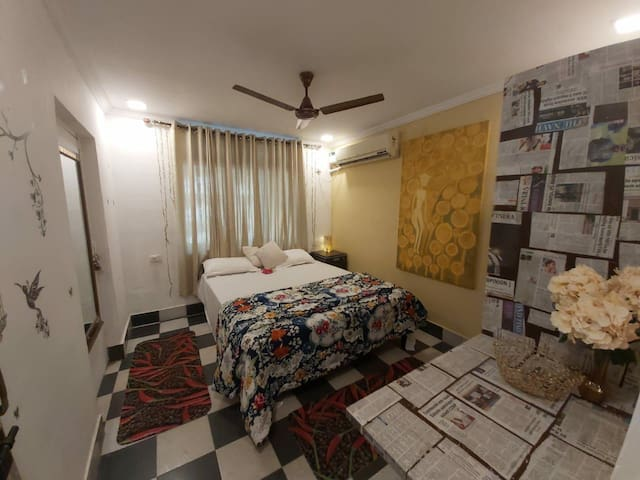 Positive Vibes 1 Private Ac Room@Panjim,North Goa