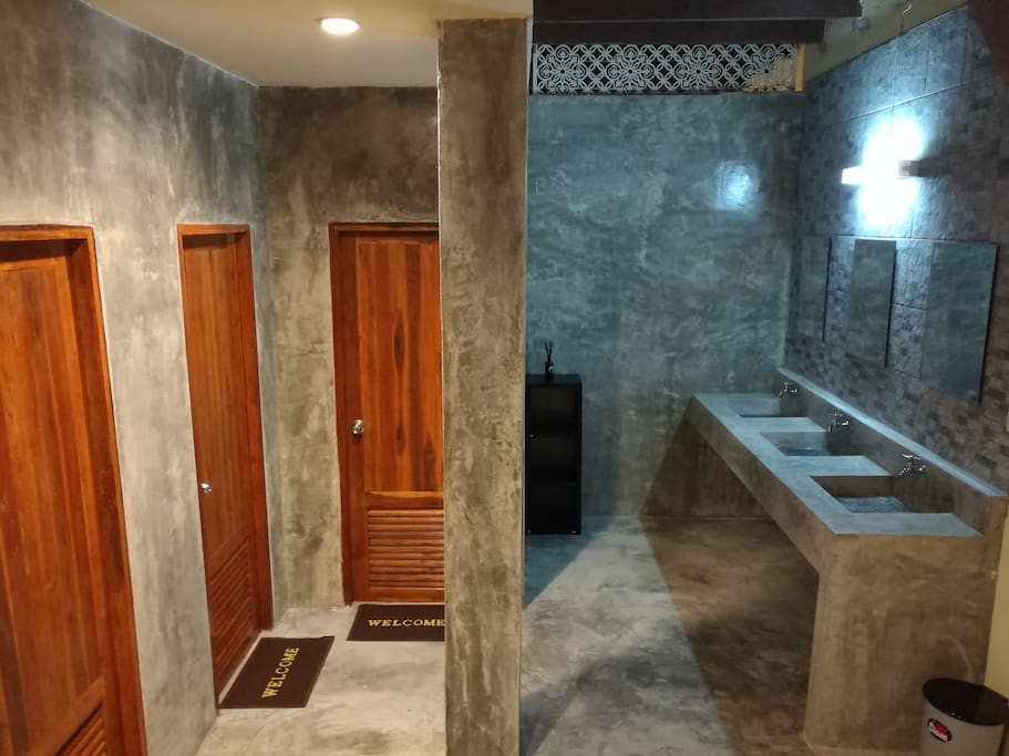 Share bathroom