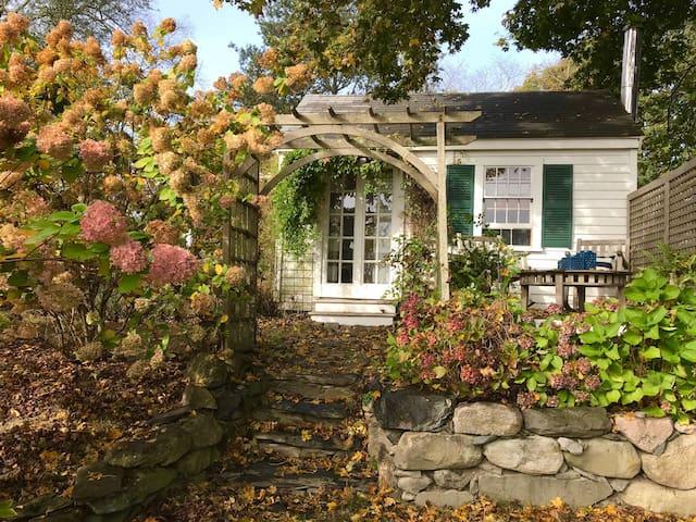 Backyard Rhode Island Cottage