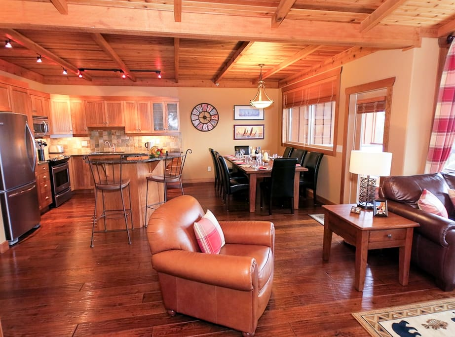 Open floor plan featuring a large dining area