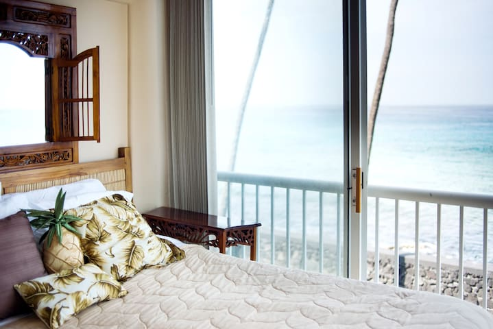 Lay in bed and watch the surf