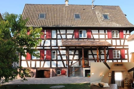 Le petit Schelishans : Chambre Waydelich - Oberschaeffolsheim - Guesthouse