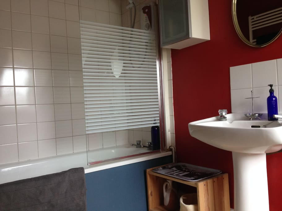 Guest bathroom - with shower over bath - is on the top floor.
