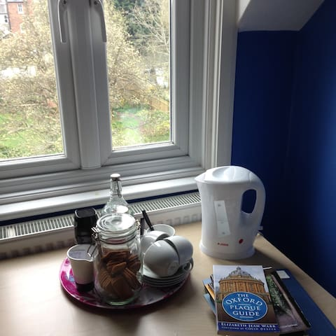 You can make tea and coffee in your room - or use the family kitchen