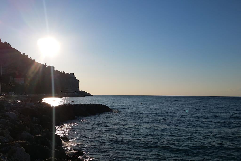 Baie vers l'Italie
