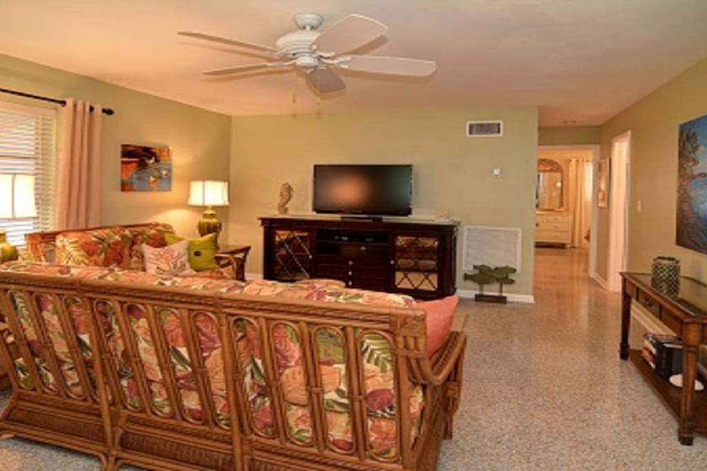 Family Room.  The house is decorated and furnished for comfort and serenity