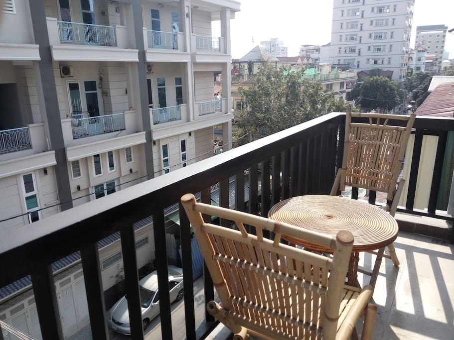 Private balcony adjacent to your room