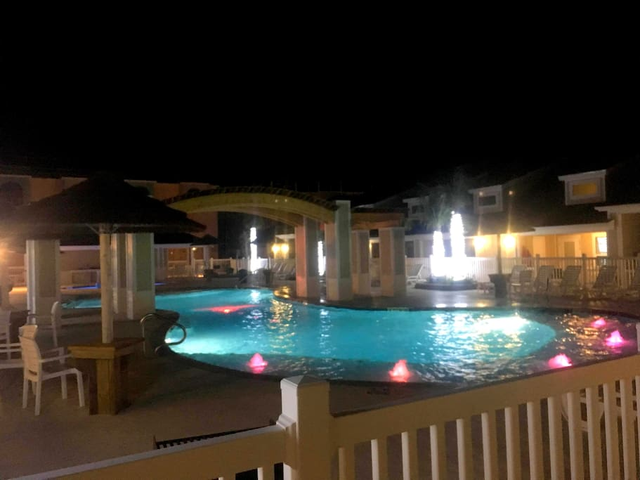 The nightlife view of the Pool