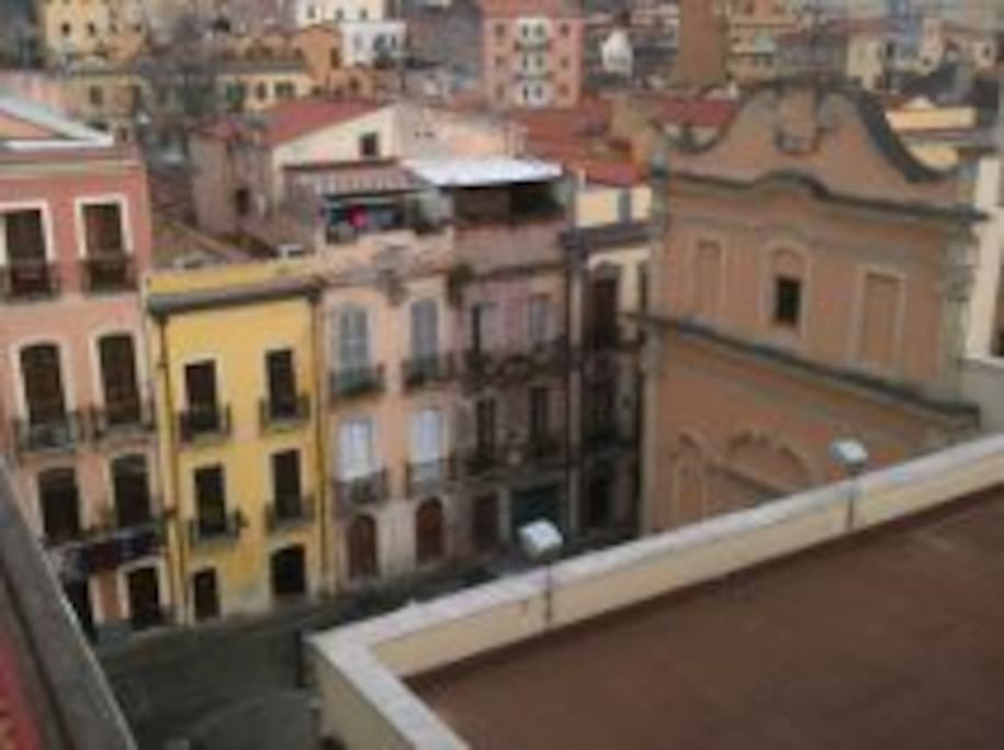 View from your terrace on Sant'Efisio's Church.