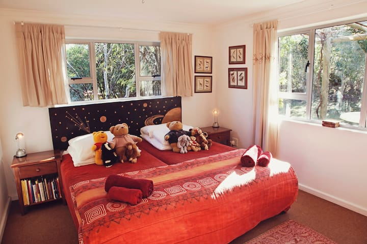 The children's bedroom - teddies, toys and games.