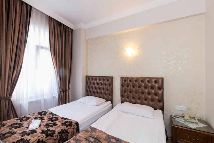 * Beautiful twin bedded room in Sultanahmet