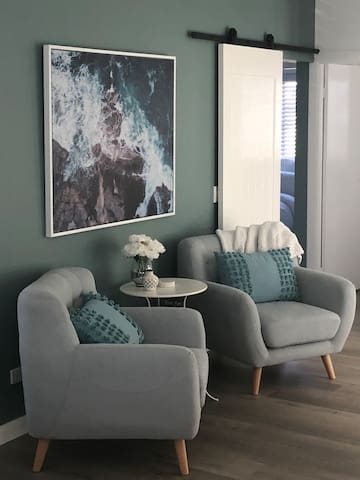 """Lounge Room with 55"""" TV view"""