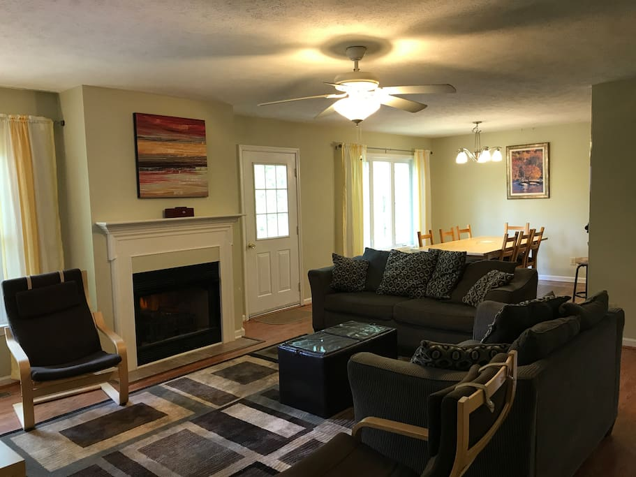 First floor living and dining rooms