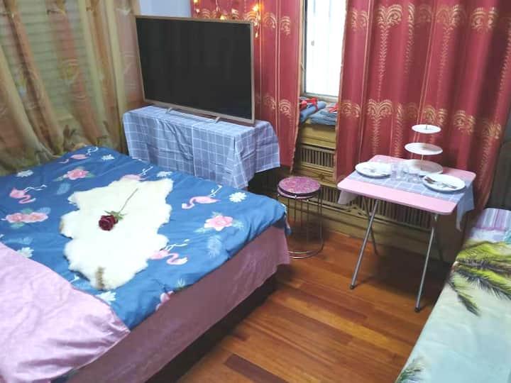璀燃日租-民宿-公寓-大客厅-3卧室-麻将房黑河市深海捞附近