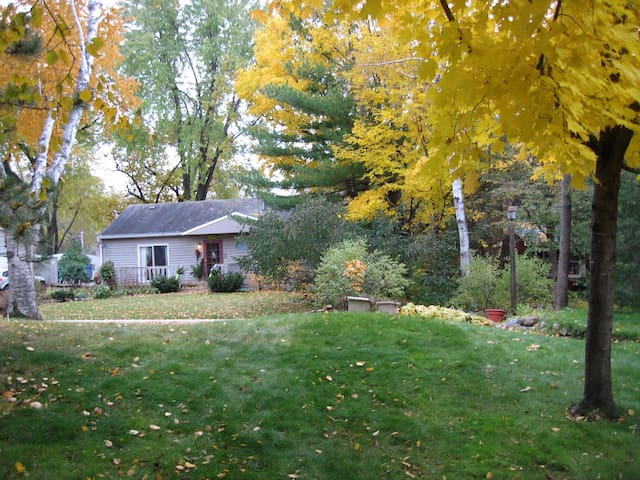 This is a partial view of the front yard that shows the house across the street.