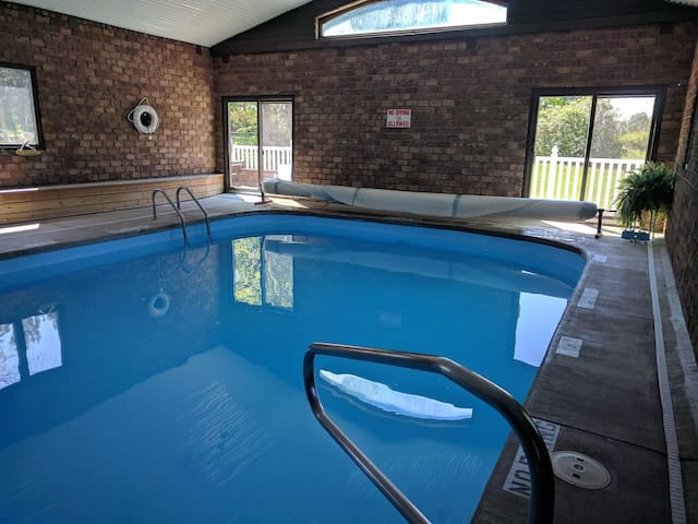 Be sure to bring your suit for a dip in the heated indoor pool off the dining room. The little ones love the 1 foot kiddie section.