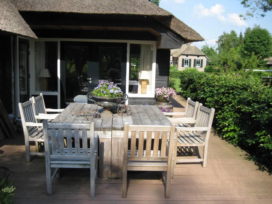 het terras van het logement