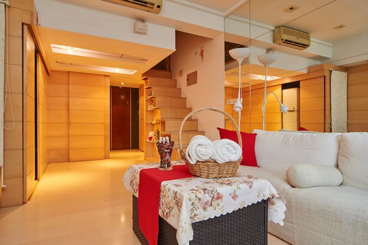 Taipei Cozy Studio Apt, 2minToMetro - 松山區, Songshan District - Appartement