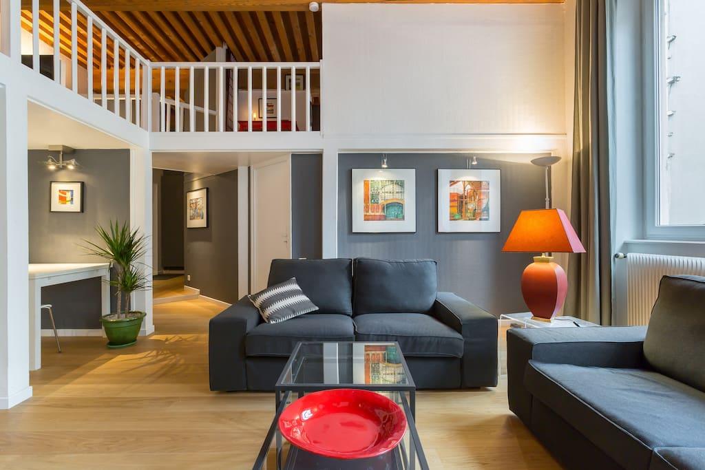 Duplex 65 m pr s du parc de la t te d 39 or garage for Garage a louer 93
