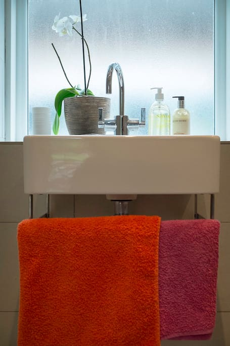soft towels in shower room