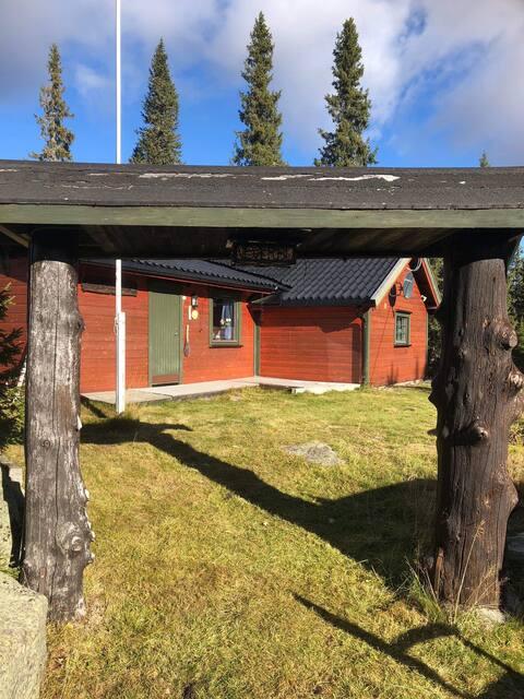Koslig familiehytte, privat plassert nær skiløype