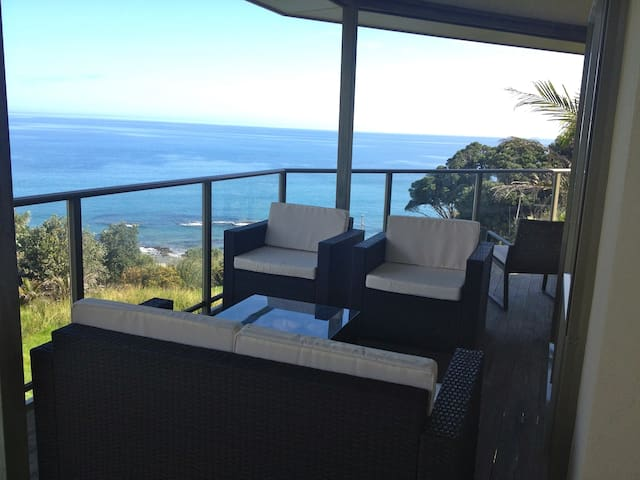 Relax and enjoy the amazing views from large the covered verandah.