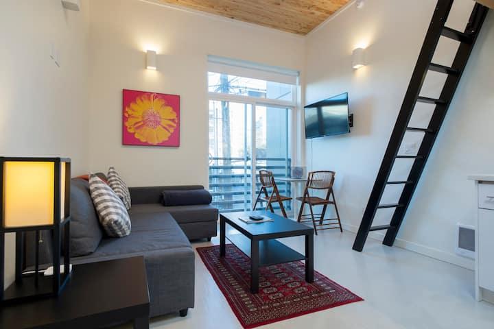 Charming Capitol Hill Studio/Loft w Rooftop Access