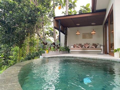 -75% Nieuwe Luxe Villa C, Uitzicht op privézwembad/jungle