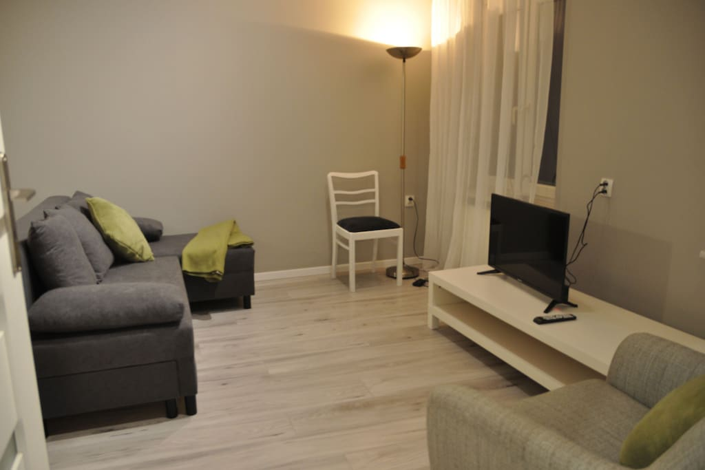Apartament przy Ratuszu - salon miejsce wypoczynku