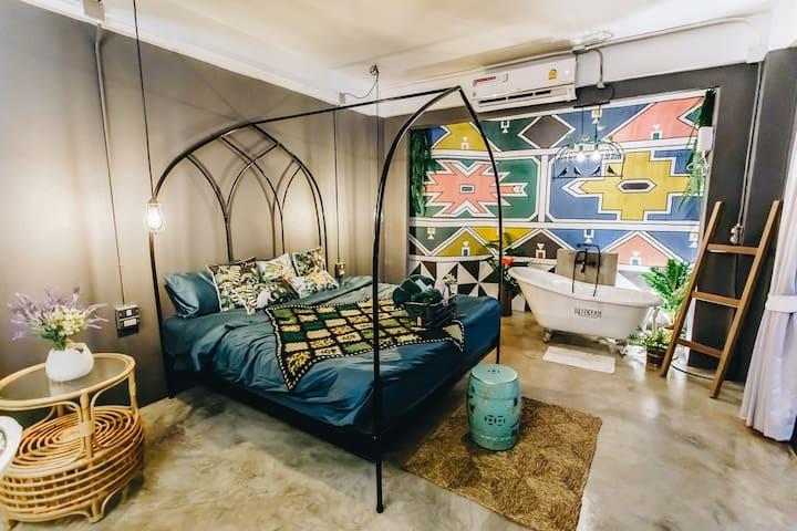 Bedroom 2 ,  Kingbed,Airconditioning, bathroom