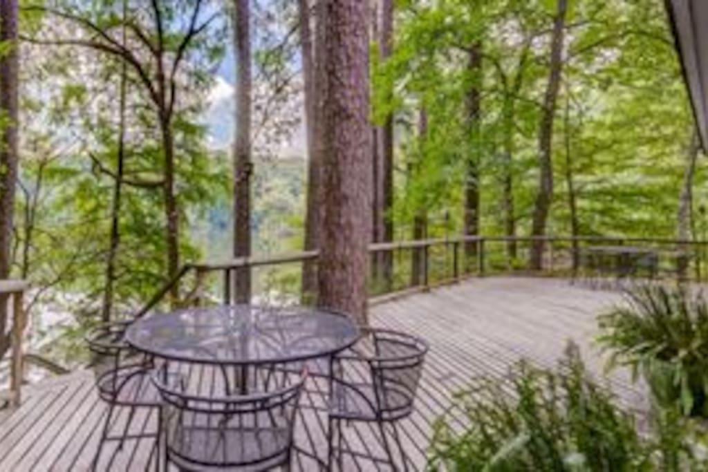 Spacious Deck with Lake Views