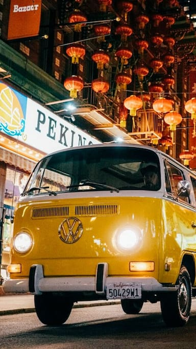 Explore the San Francisco in a VW bus