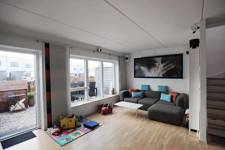 Børnevenligt rækkehus I Hjortshøj - Hjortshøj - Casa