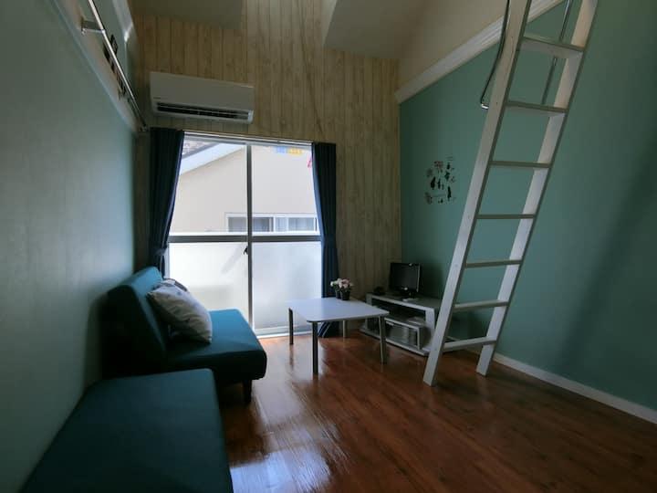 ホテルと一人暮らしの中間、プロがコーディネートしたワンルームを丸ごと利用できます!
