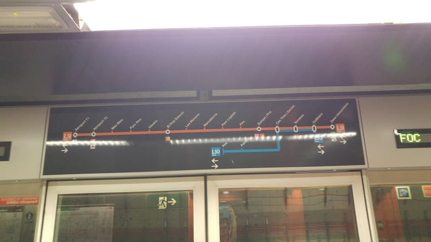 line 9 goes to the direct airport and university area