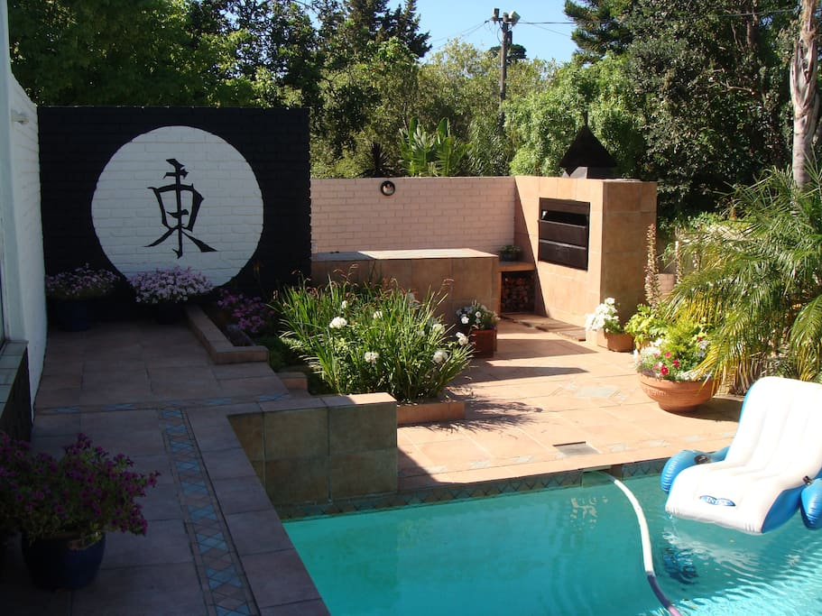 You are welcome to make use of the lovely outside pool and barbeque area.