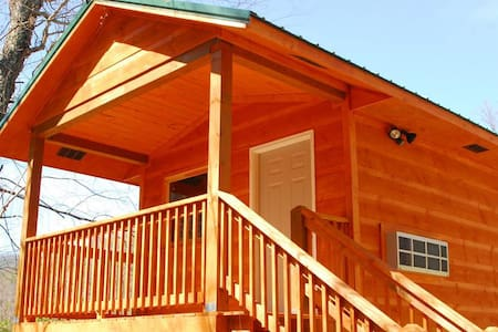 Riverside camping cabin