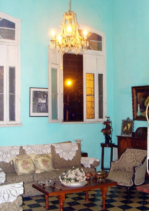 Sala de la casa a disposición de los huéspedes.