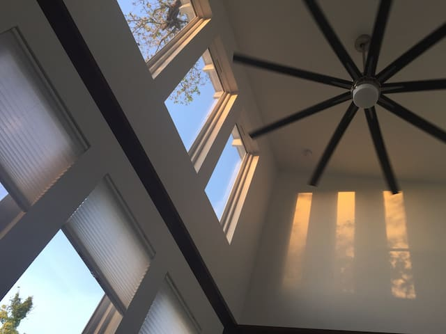 Big a** fans to keep cool with 12'-20' ceilings