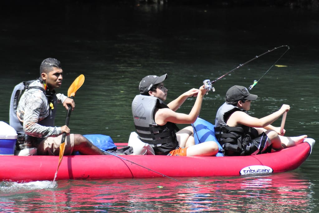 Activities in the river near to Casa Araya B&B