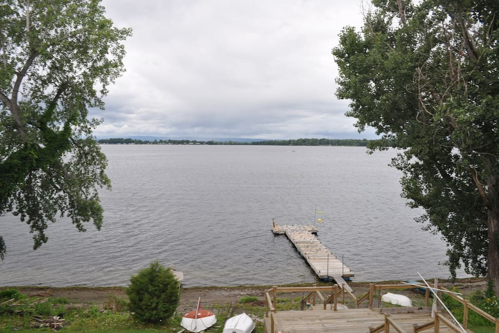 Shared dock and beach just steps from your door!