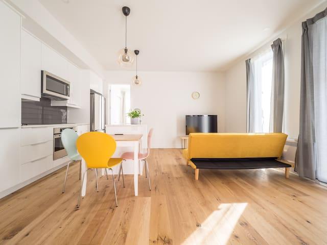 Colorful & cozy 2-bedroom New Condo in Downtown