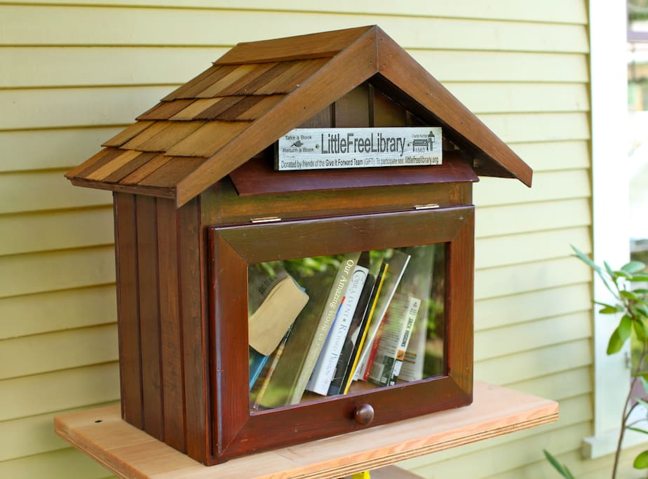 Feel free to take a book or leave a book from our Little Free Library!