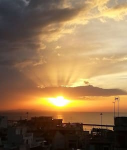 Rooftop studio room with the best view - Patras