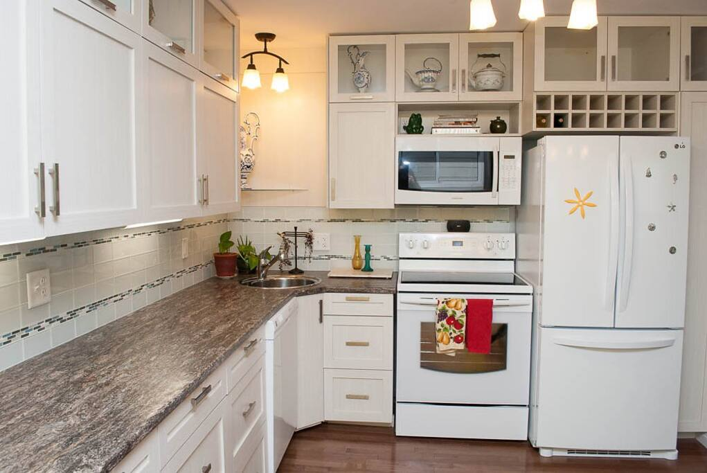 Newly renovated open concept kitchen.