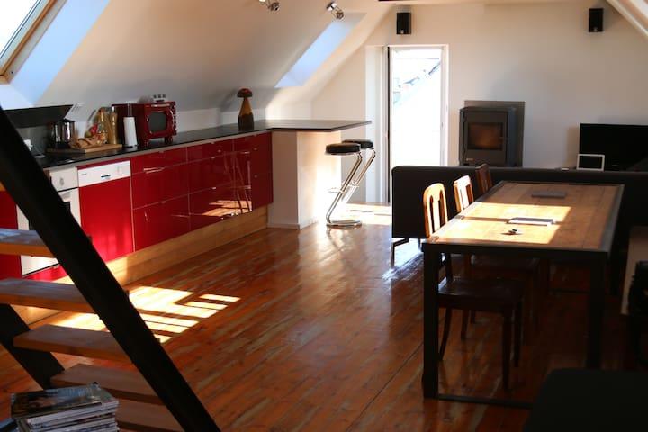 Bretagne Loft Ploneour Lavern Pays - Plonéour-Lanvern - Apartamento